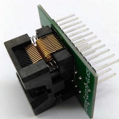 Simple SSOP24 to DIP24 IC test socket adapter 0.65mm