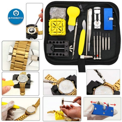 168pcs Watchmaker Tool Watch Back Battery Link Repair removal tools