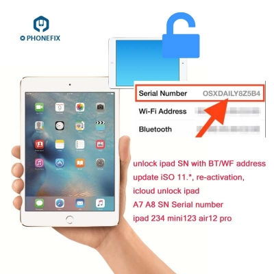 unlock ipad SN with BT WF address 100% fix activation error