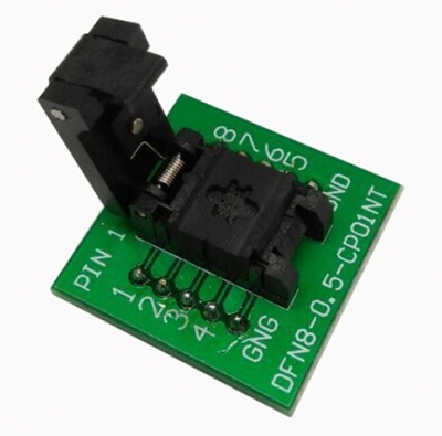 DFN8 programming adapter 2×3 0.5mm QFN8 socket adapter