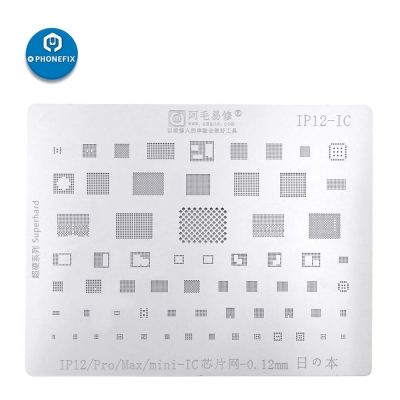 AMAOE BGA Reballing Stencil For Iphone 12 pro iPad A14 CPU