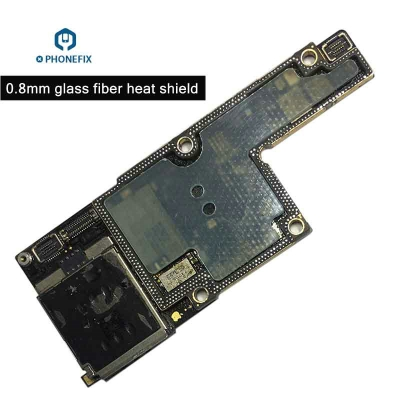 0.8mm iPhone X XS MAX PCB Repair Heat insulation glass fiber shield Protector