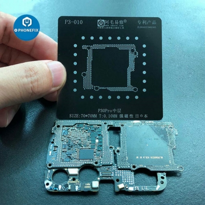 Huawei P30 Pro middle frame BGA Reballing Stencil Template Soldering