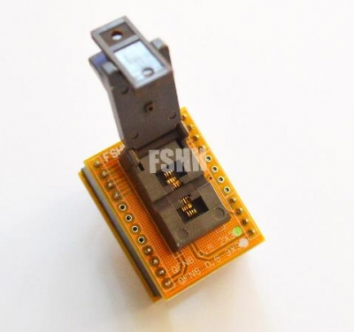QFN8 To DIP8 IC socket adapter DFN8 MLF8 WSON8 2*3mm 0.5mm