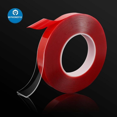 1MM 10M Strong Adhesive PET Red Film Double Side Tape No Trace