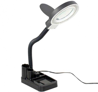10 times HD LED lamp desktop magnifying glass for mobile phone repair