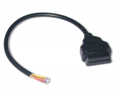 OBD-II extension cable end open Female OBDII Connector obd2 cable