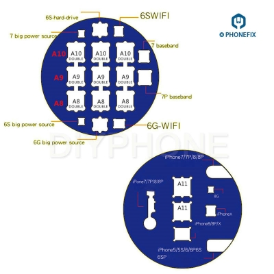 double-sided Microscope Slot Base for iPhone CPU BGA Baseband IC Repair