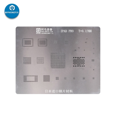 ipad BGA Reballing Stencil Template for iPad 2 3 4 5 mini 1 2 3 pro