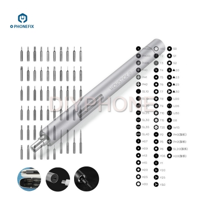 WOWSTICK 1F Plus Lithium Precision Screwdriver with 56pcs Bit Driver