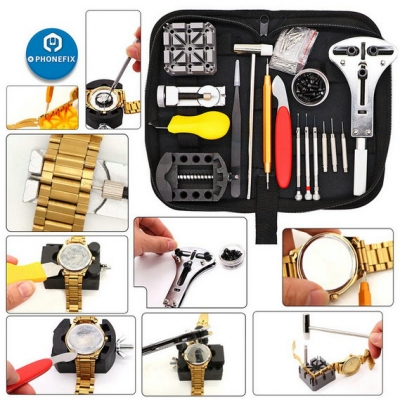 151pcs Professional Watch Repair Kit Battery Replace Band Link Pin Tool