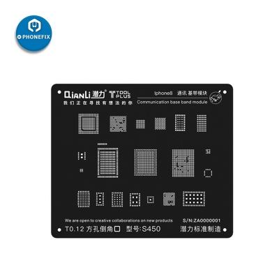 QianLi Black 3D BGA Reballing Stencil for iphone 6 7 8 X Communication BaseBand