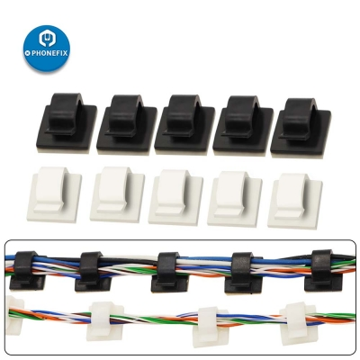 Adhesive Cable Clips Wire Management Clamps for Car Office Home