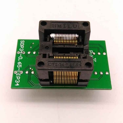 Simple SSOP30 to DIP30 Test Socket 0.65mm programmer adapter