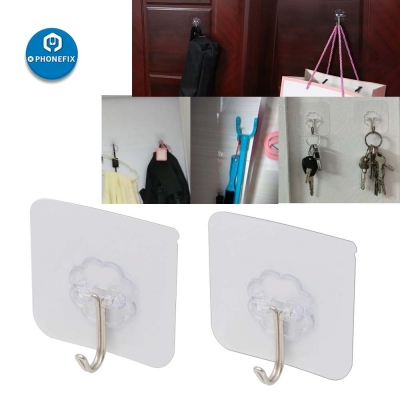 6*6cm Wall Hooks Strong Transparent Suction Cup Sucker