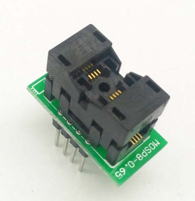 Simple MSOP8 to DIP8 IC test socket adapter SSOP8 0.65mm