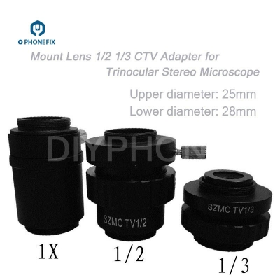 C-Mount Lens TV1/2 1/3 CTV Adapter for Trinocular Stereo Microscope