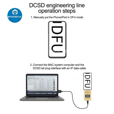 WL DCSD Cable for iphone ipad Purple Screen DFU Mode Tool