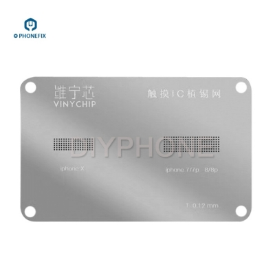 iPhone 7 8 X Screen Touch IC BGA Reballing Stencil template 2-IN-1