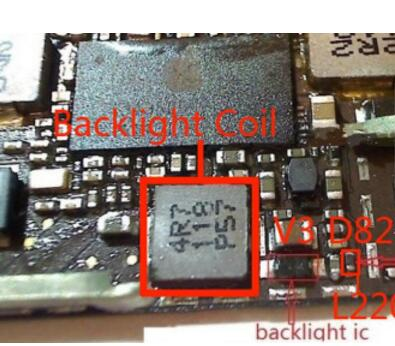 IPAD 2 3 4 5 MINI backlight V3 Booster diode 2R2 light control 4R7 coil