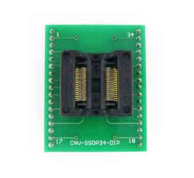 CNV TSSOP34 to DIP34 chip adapter 34 pin SSOP34 ic socket