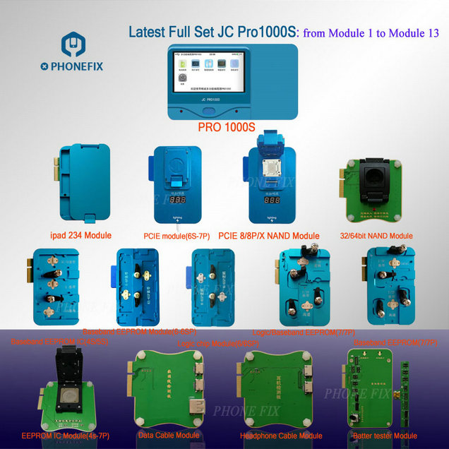 reviews,JC pro1000S iPhone Chip Programmer mobile phone icloud