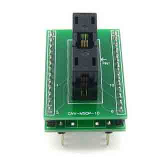 CNV msop10 10 pin ic test socket ssop10 10pin programmer adapter