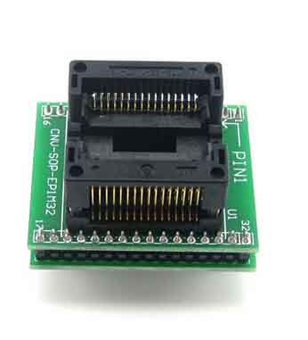 14.12mm SOP32 to DIP32 32 pin ic socket SOIC32 ic programmer adapter